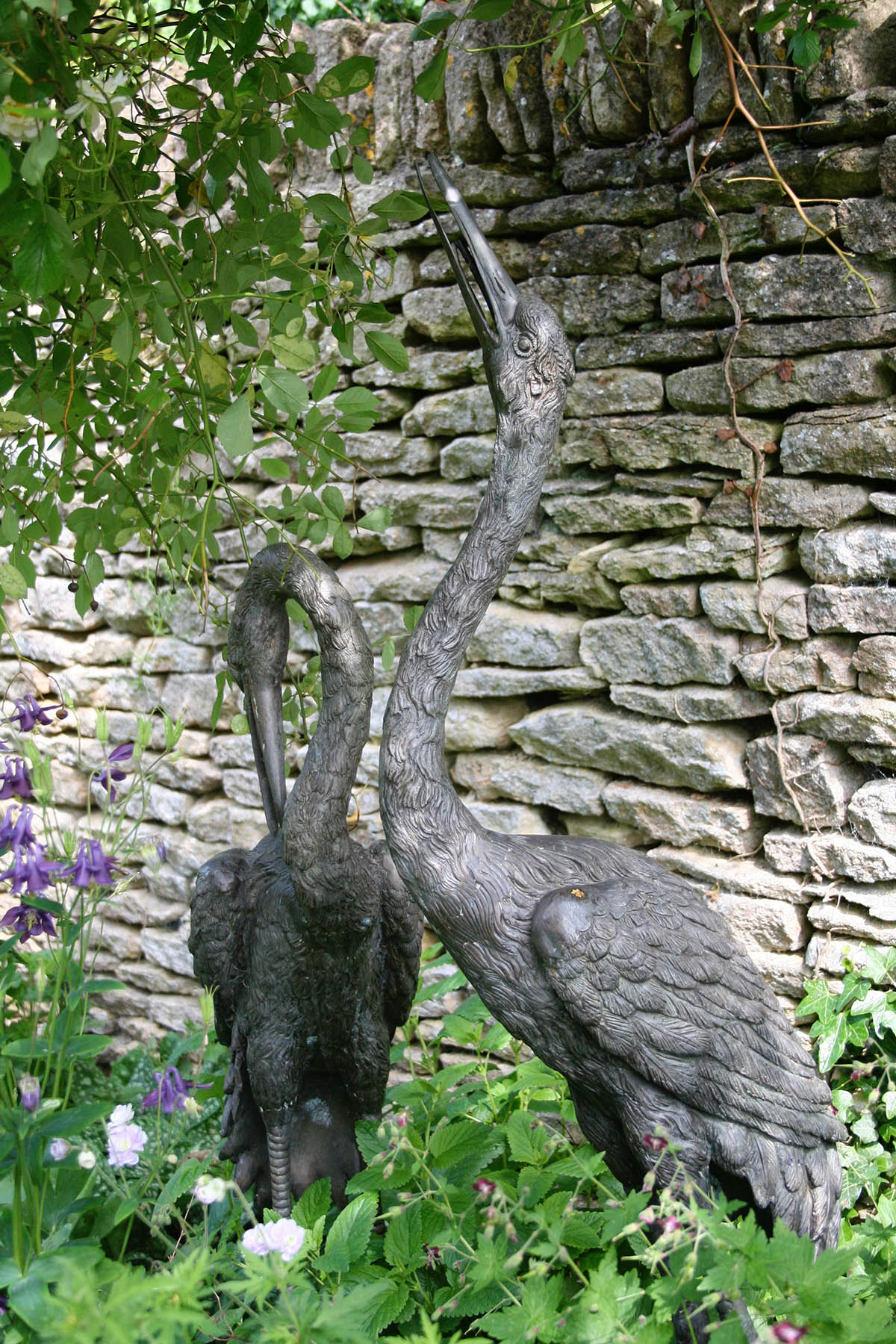 Heron sculptures for the garden