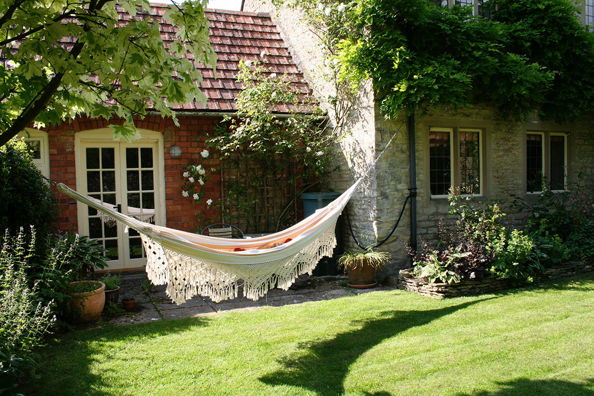 Relaxing in the sunny garden
